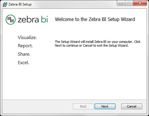 Zebra BI Chart Maker Install Setup