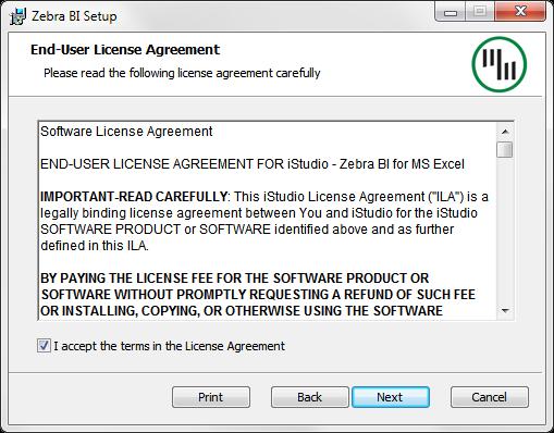Zebra BI Chart Make Install Setup