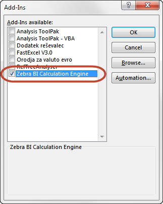 Enable Zebra BI Calculation Engine