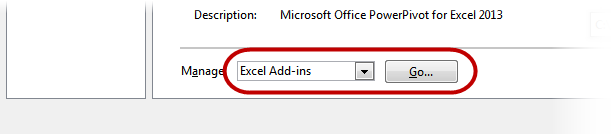 Manage Excel Add-ins